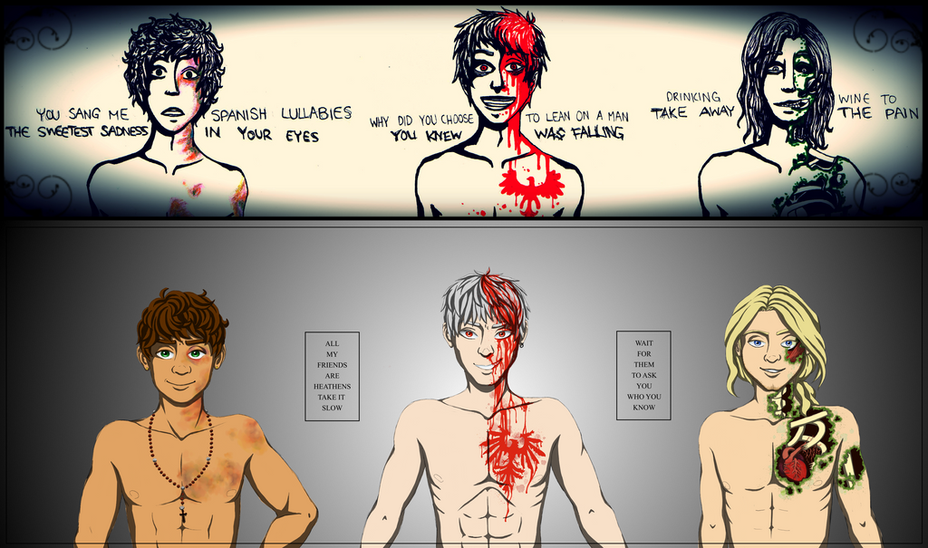 Heathens (2012 - 2016 redraw) by OutskirtsOfInsanity