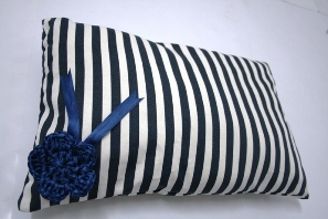 stripey pillow by MummyNayli