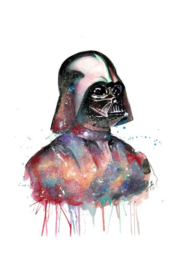 Darth Vader Watercolor by mattbrooksart on DeviantArt