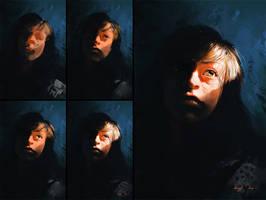 Portrait Study-Process by BisBiswas