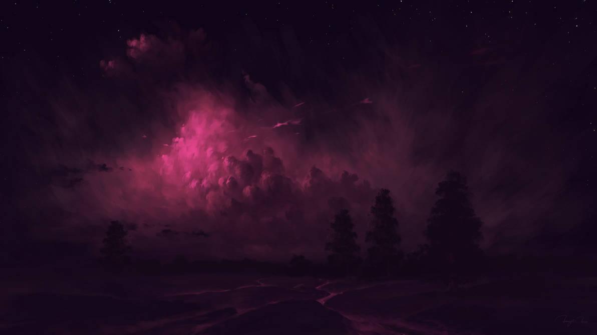 Night Under Pink Light