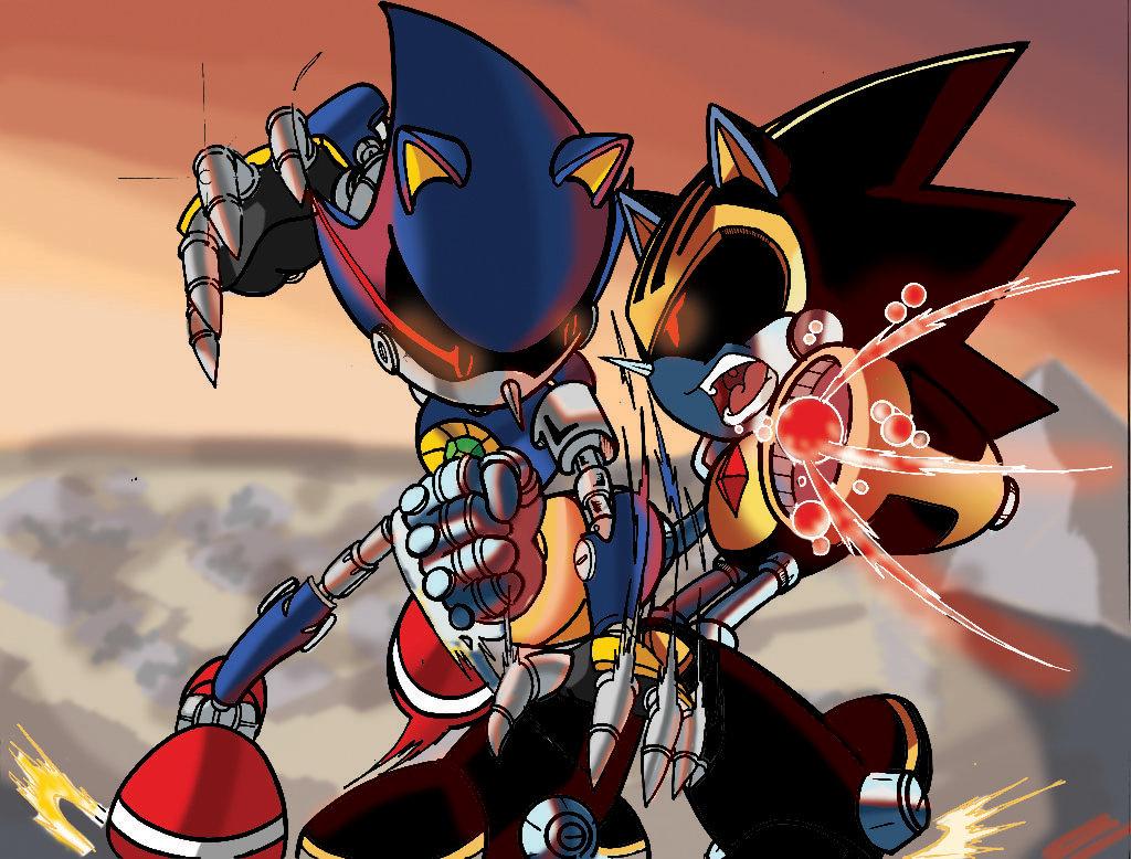 Metal Sonic Vs Shard (Coloured Version) by leonarstist06