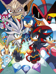 Sonic Universe Triple Threat Cover 1 (Coloured) by leonarstist06