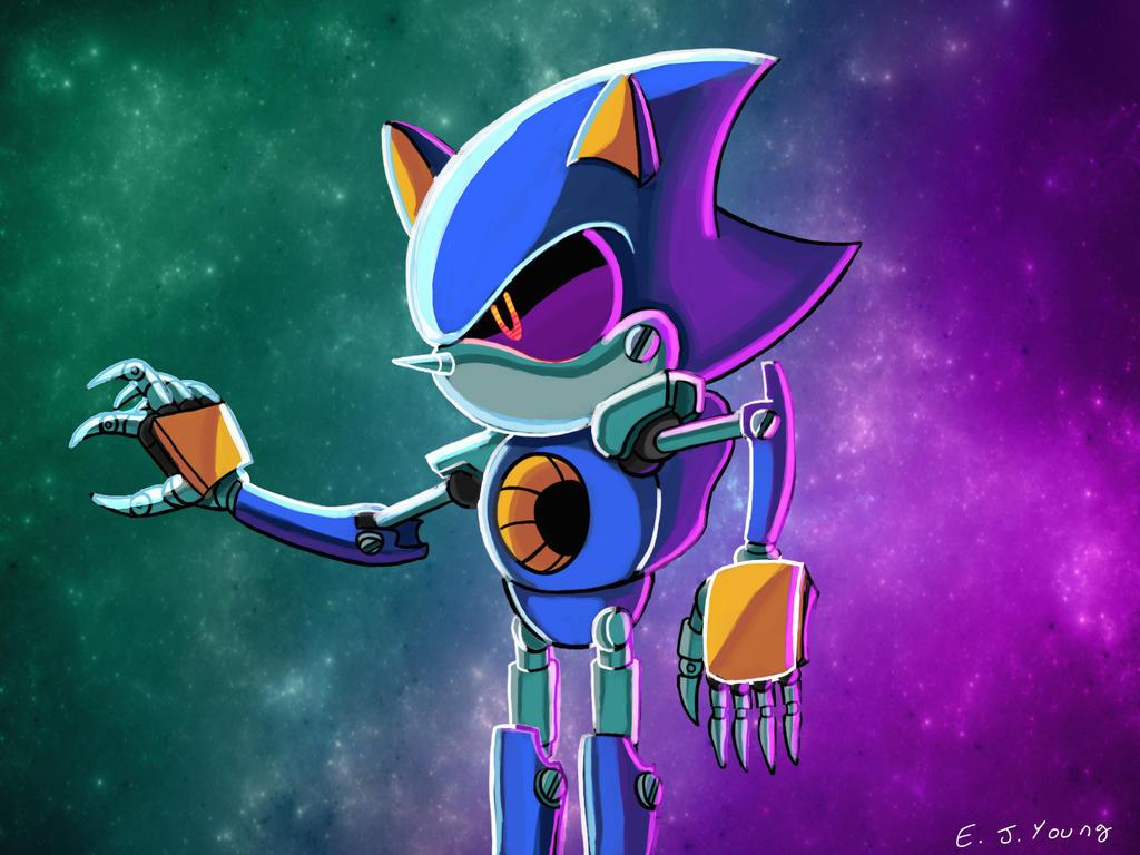 Metal Sonic_Digital Painting by leonarstist06