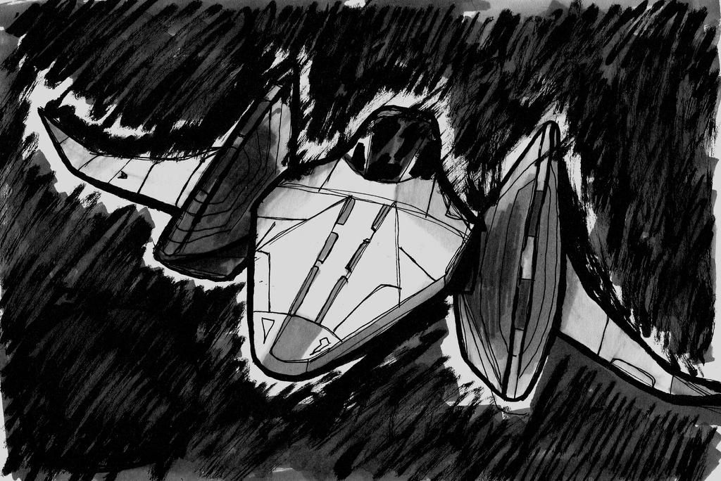 Arwing in pursuit [Ink20 #01] by leonarstist06