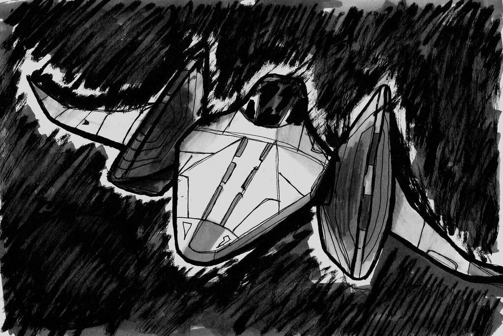 Arwing in pursuit [Ink20 #01] by leonarstist06