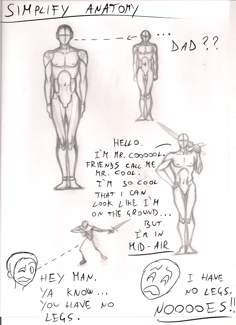 Study About How To Simplify Anatomy By Dex91 On Deviantart