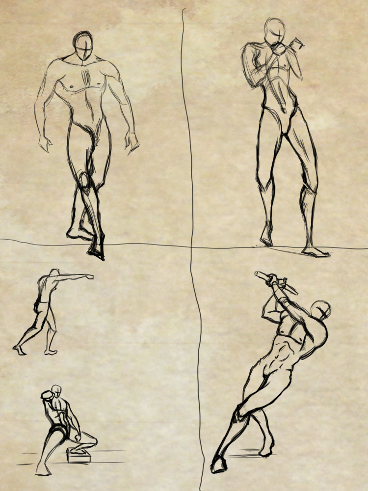 Some random poses to practice by Dex91