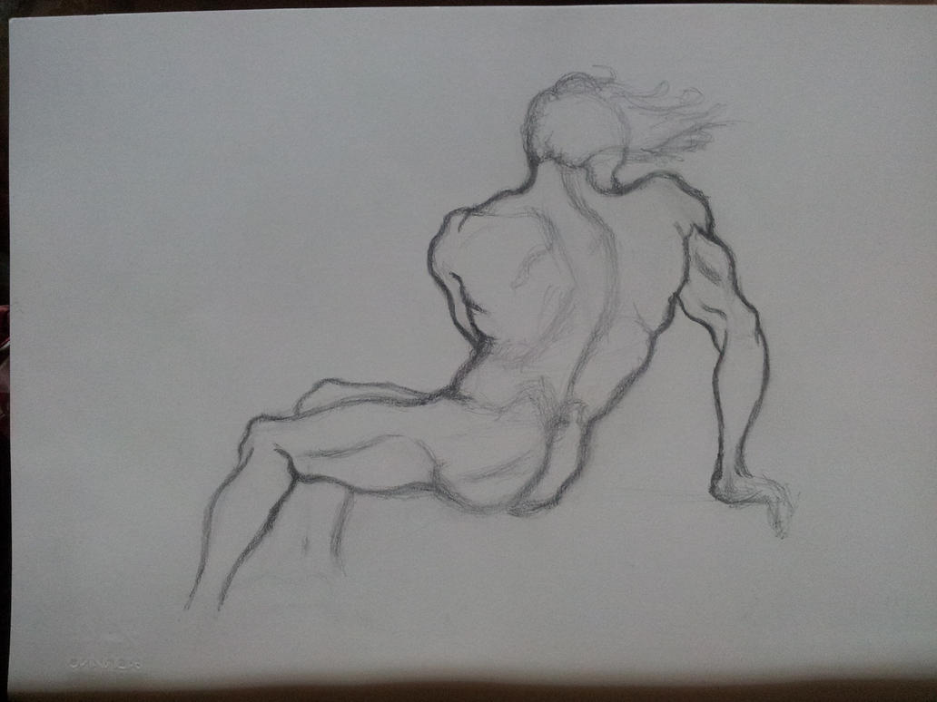 Back Anatomy study - Quick sketch by Dex91