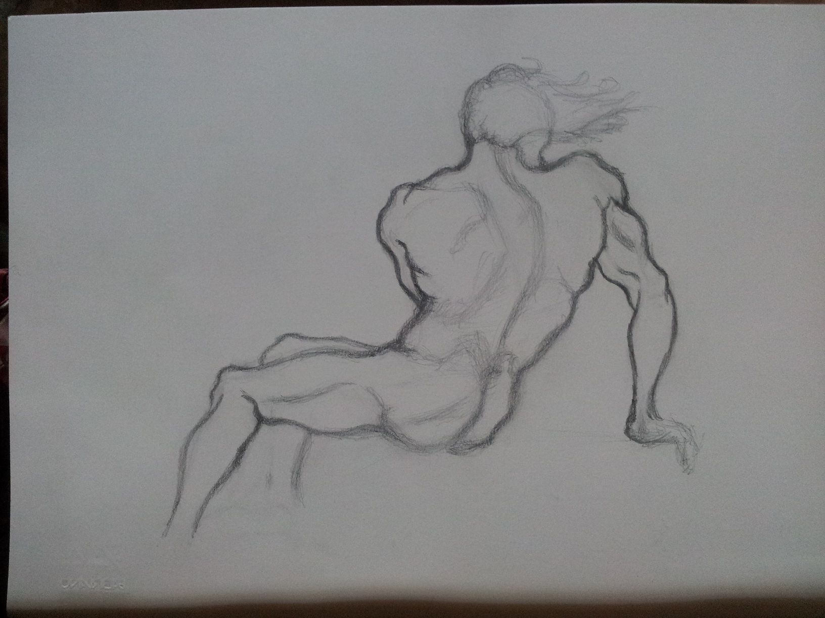 Back Anatomy study - Quick sketch by Dex91