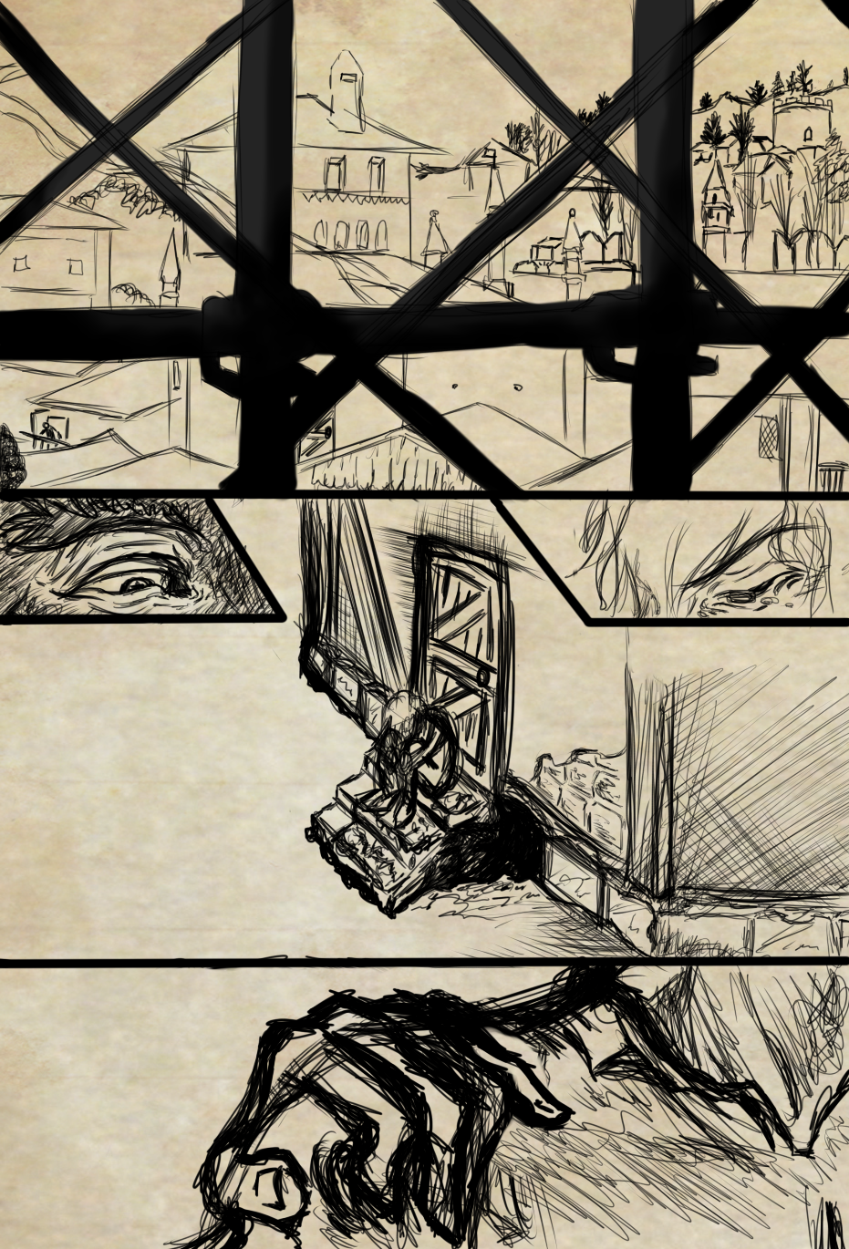 Mark Of Darkness Pag.1 Rough [Storyboard] by Dex91