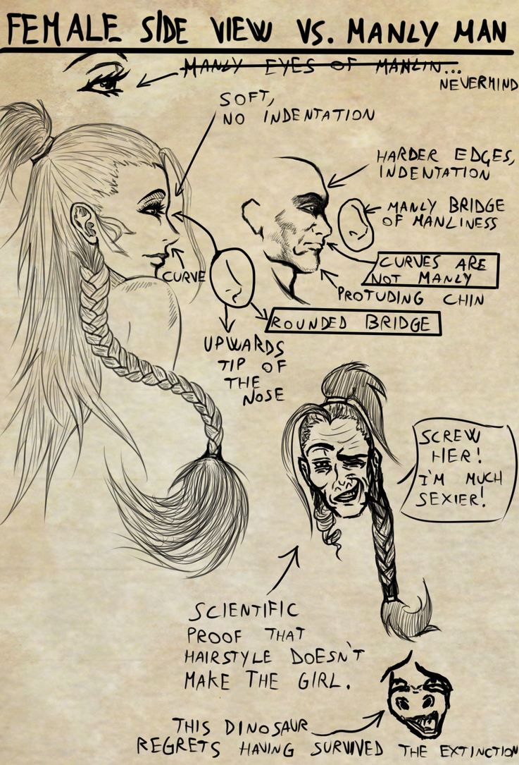 Female Side view vs Manly Man Side View [Tutorial] by Dex91 on ...