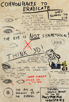 Commonplaces to ERADICATE drawing Eyes [Tutorial]