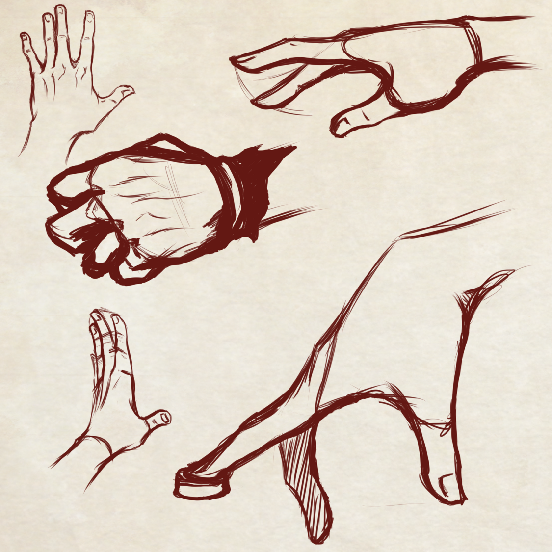 Quick Hands Practice - More to Come! by Dex91 on DeviantArt