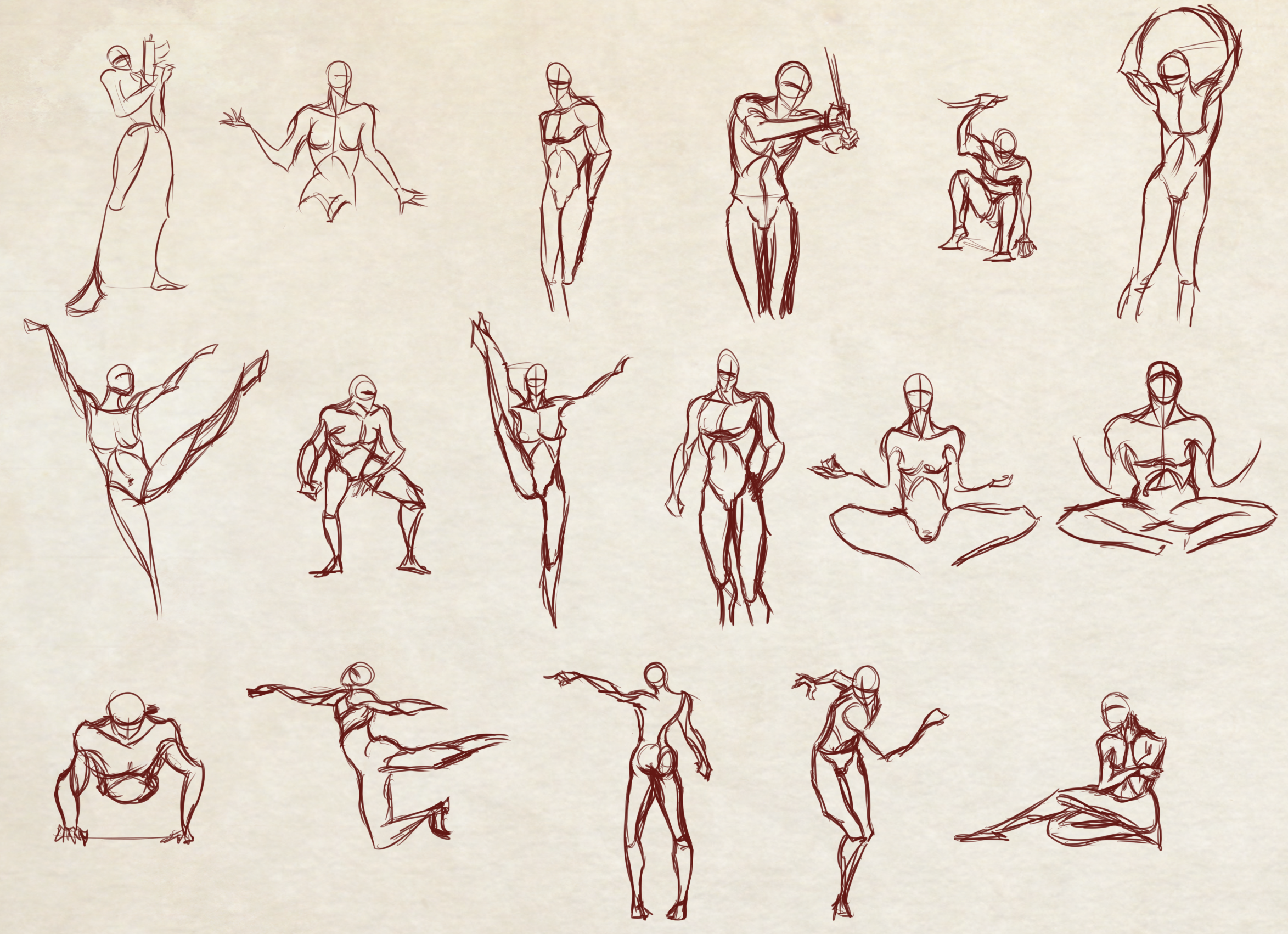 Moar 2 Minutes Poses Speeddrawing Video Included By Dex91 On