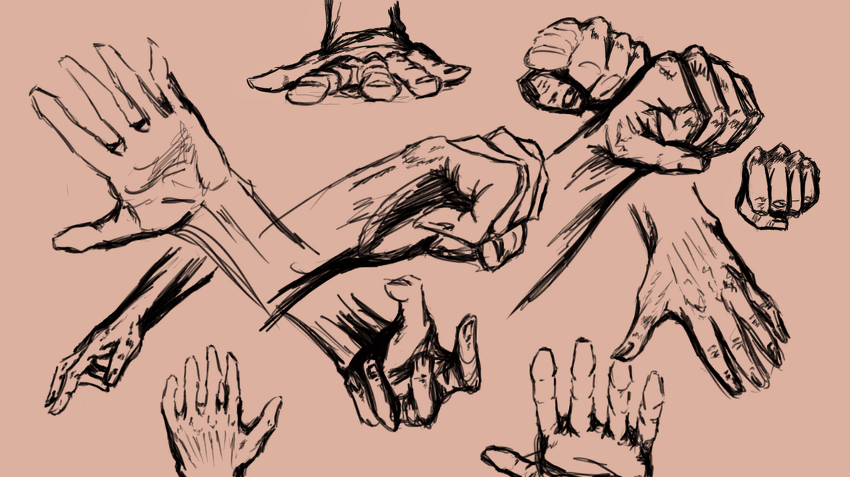 Hands 2 min poses! [Usable as References] by Dex91 on DeviantArt