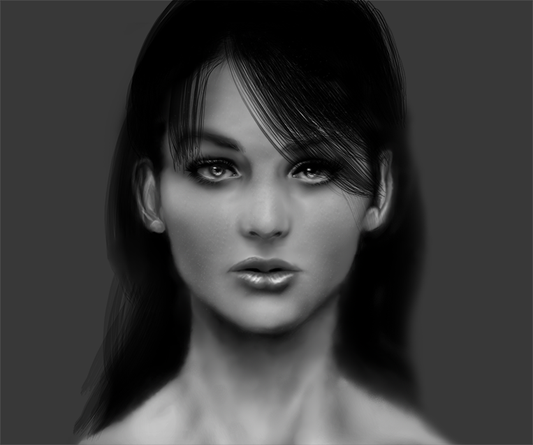 Realism Digital Painting from imagination: Face by Dex91