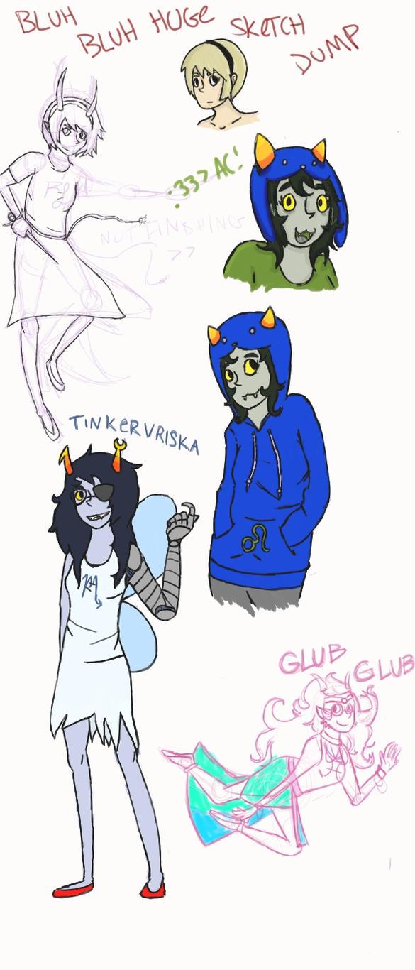 Bluh Bluh Sketch Dump by raeilyg
