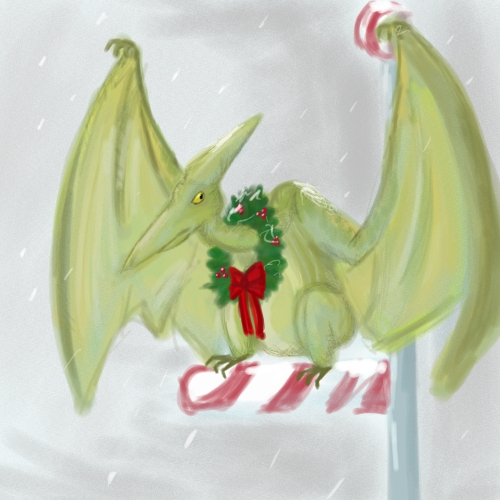 Christmas Pterodactyl... by raeilyg