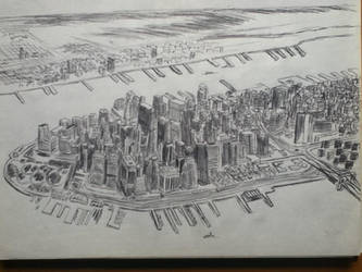 NYC Cityscape 2 Pen by iImperator