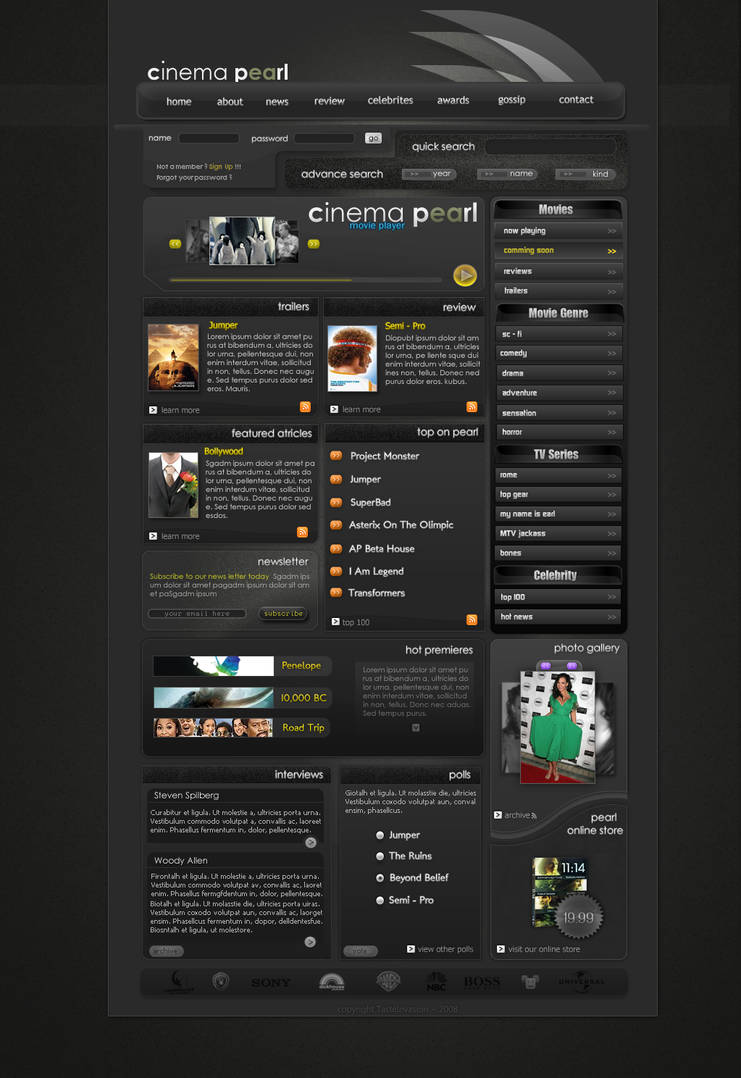 Cinema Pearl - Movie Portal by Piurek