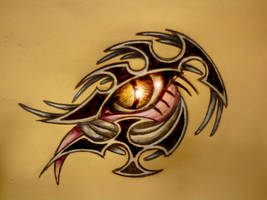 tribal eyeball 006 color by klintbison
