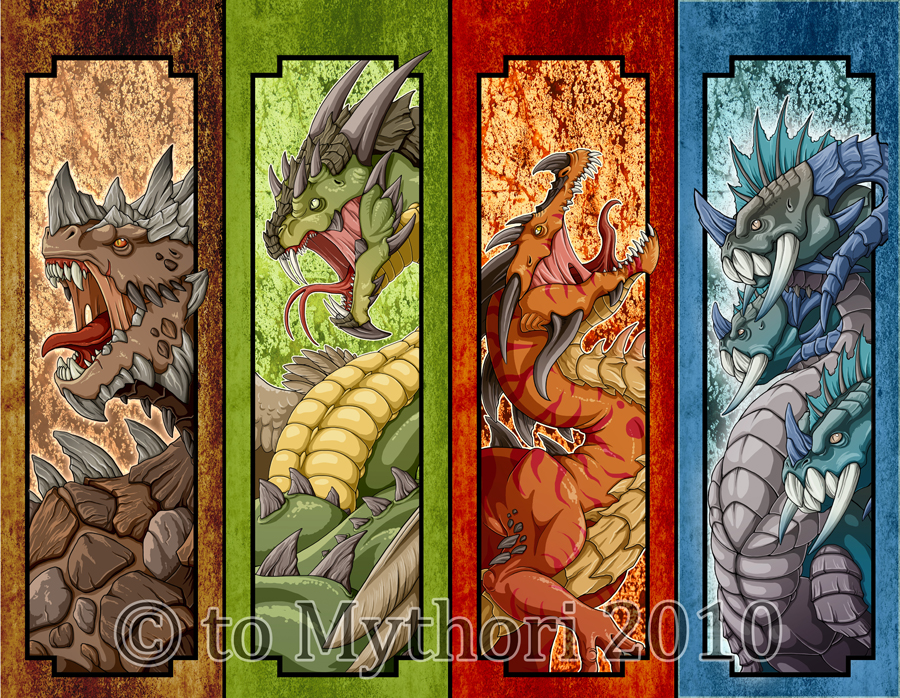 Bookmark designs finished by mythori on DeviantArt