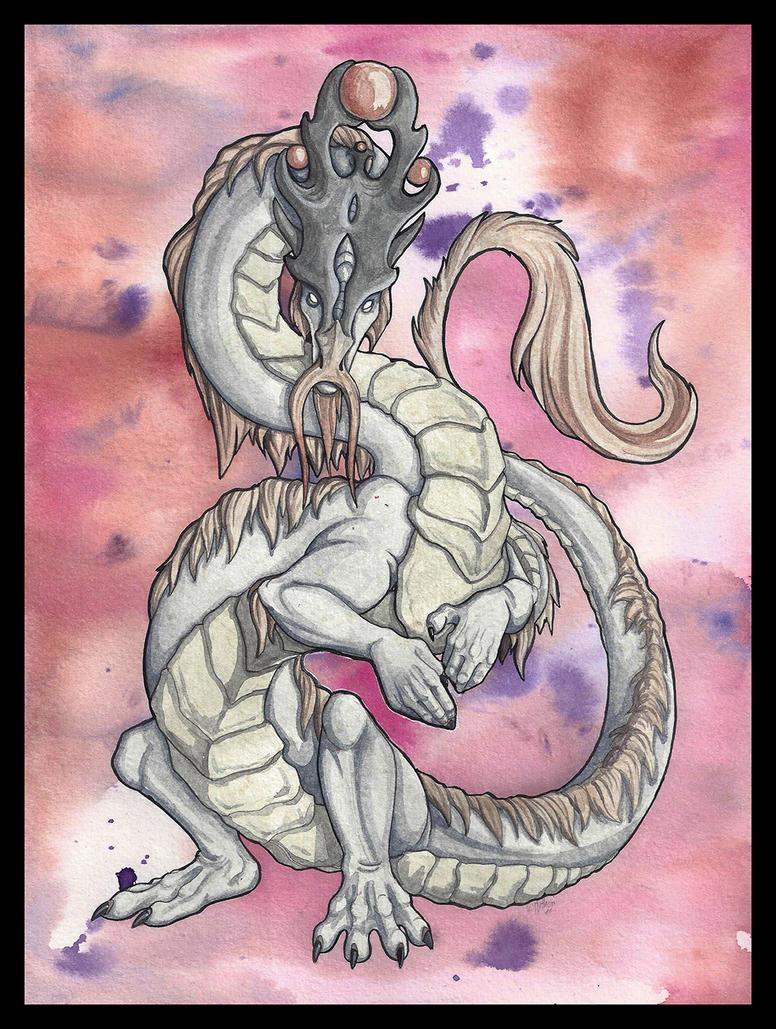 Watercolor Dragon Mystic by mythori