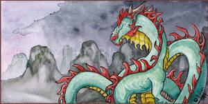 'Asia' Watercolor