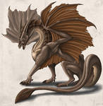 Posing earth-dragon