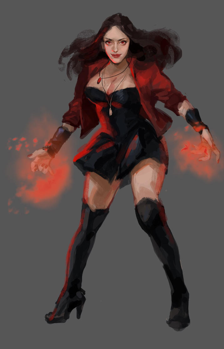 Scarlet witch by Eimonga