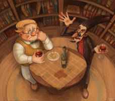 Good Omens. Crowley and Aziraphale by DrVetson