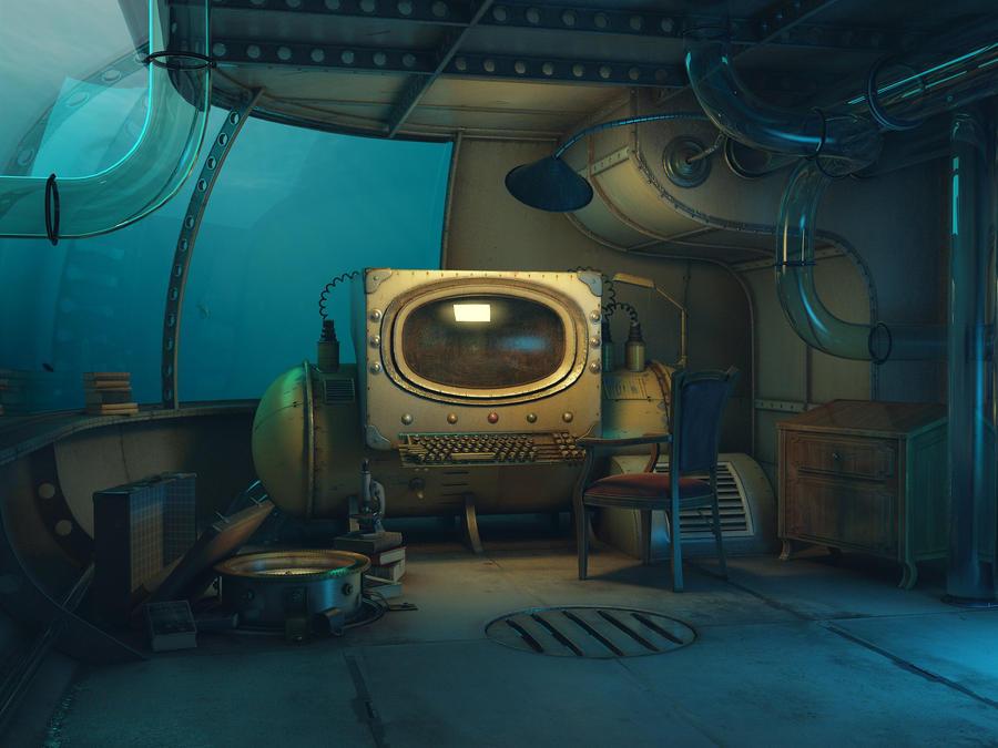 underwater lab by damart3d