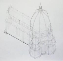 axonometric duomo by Fiorentino