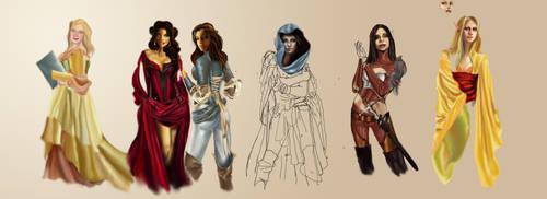 Character sketch dump by Naralim