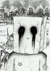 El chico bolsa. by Wololox