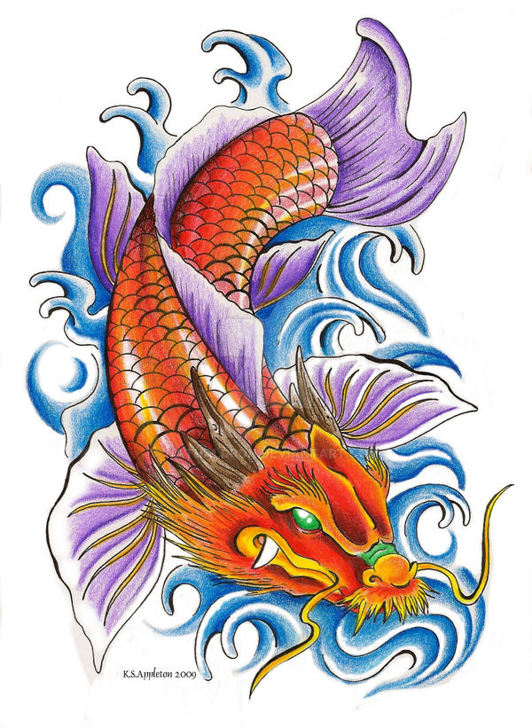 Dragon koi by nathaldron on deviantart for Black dragon koi