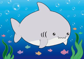 Kawaii Shark by Nathaldron