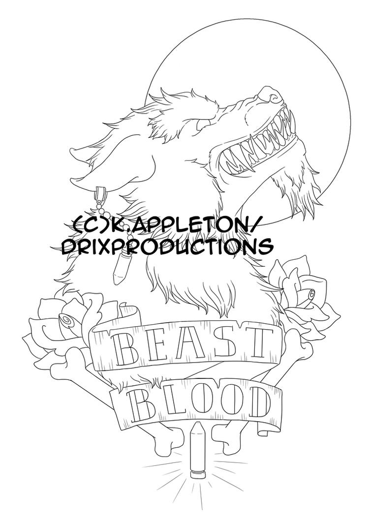 Beast blood line work by Nathaldron
