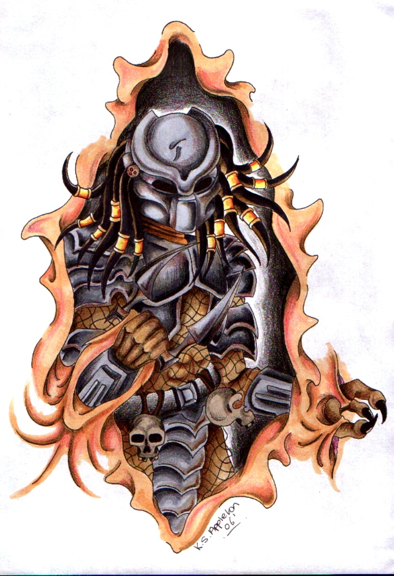 Alien vs Predator Tattoo Designs