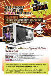 Newd Radio Station Flyer