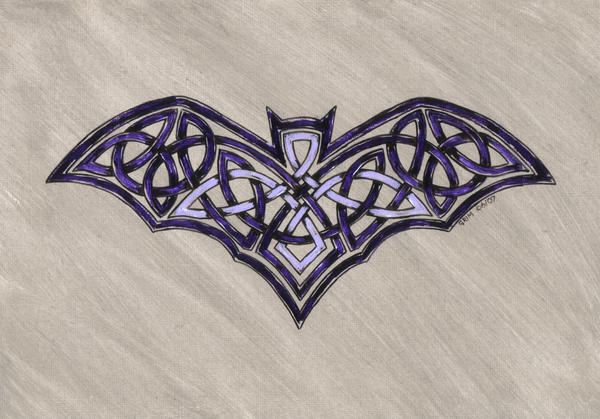 celtic bat by spookyt5 on deviantart. Black Bedroom Furniture Sets. Home Design Ideas