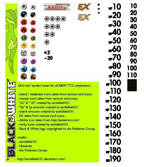 Bw Symbols Sheet By Aschefield101 On Deviantart