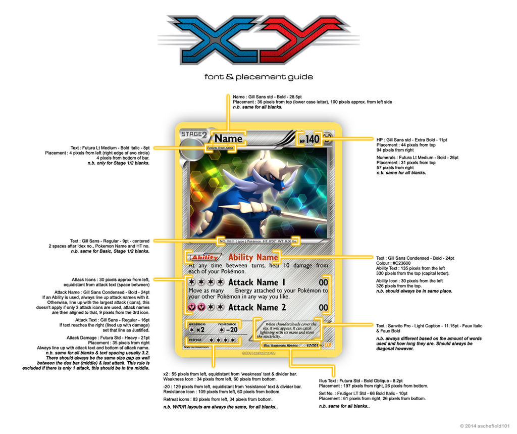 Pokemon tcg text font