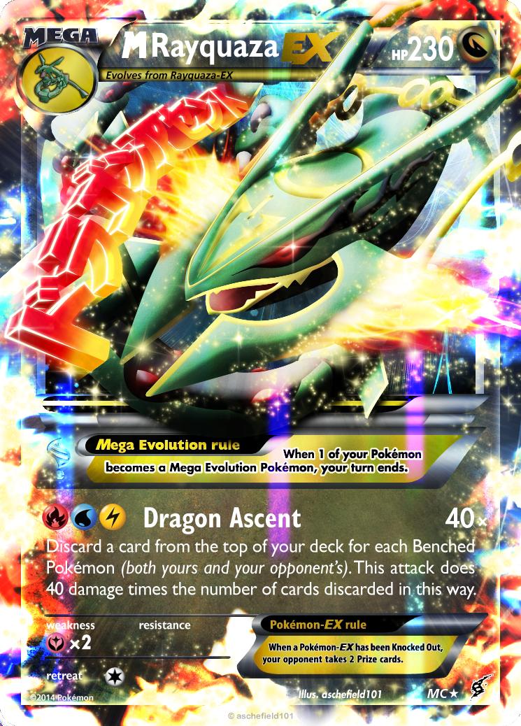 M Rayquaza EX By Aschefield101 On DeviantArt