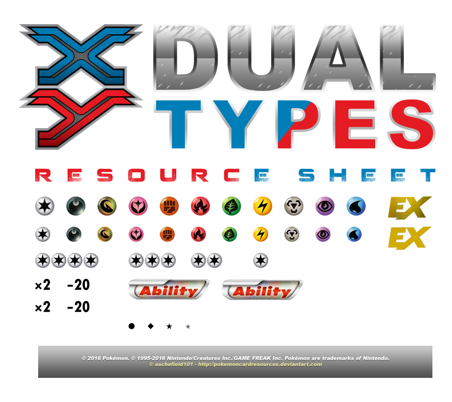 Xy Dual Types Resource Sheet By Aschefield101 On Deviantart