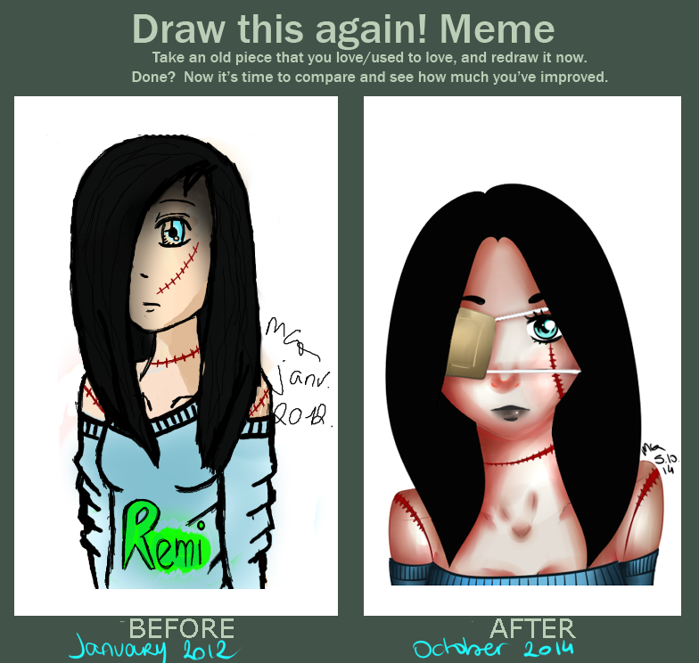 Before / After meme by Mahine-chan