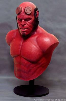 Hellboy silicone bust