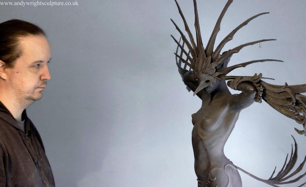 Wing sculpture in progress web by artyandy