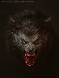 American werewolf life size bust indoors 1